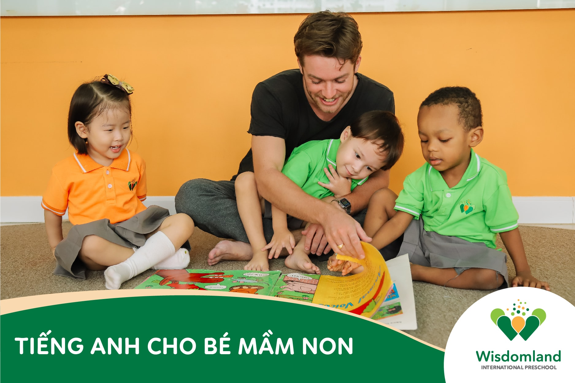 cho tre hoc tieng Anh mam non